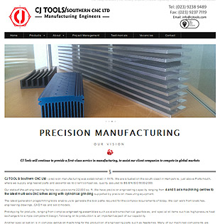 precision tools website example